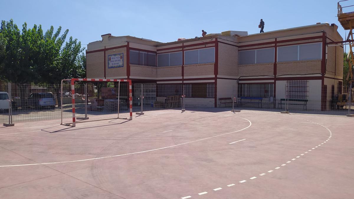 Obras en el Colegio Público Santiago García Medel de Era Alta