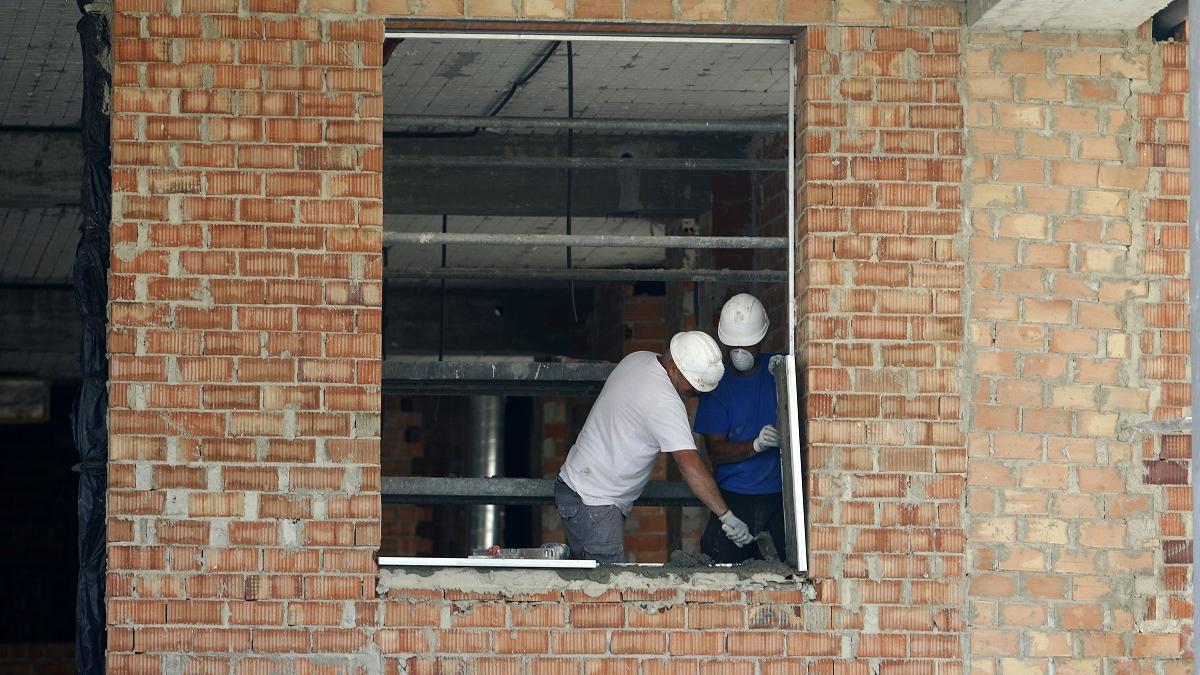 Obras de construcción de viviendas.