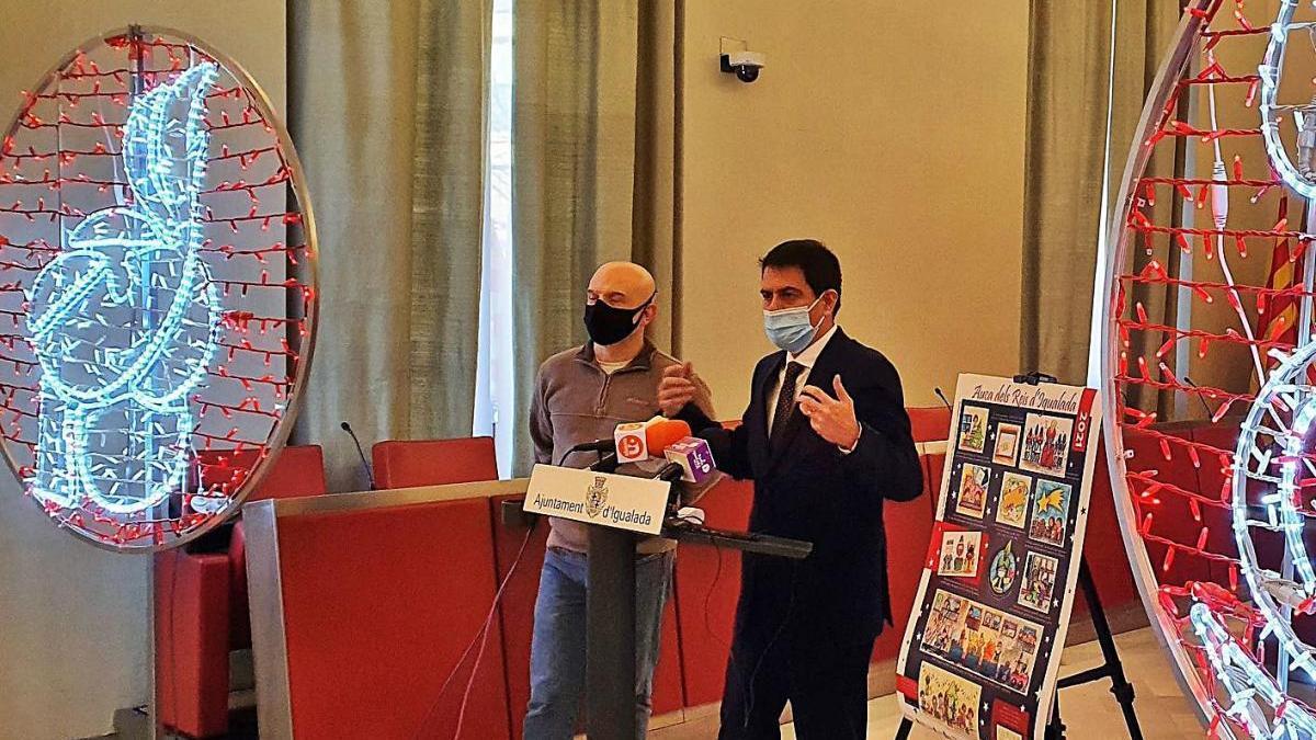 Sebastià Castelltort i Marc Castells en la roda de premsa d'ahir