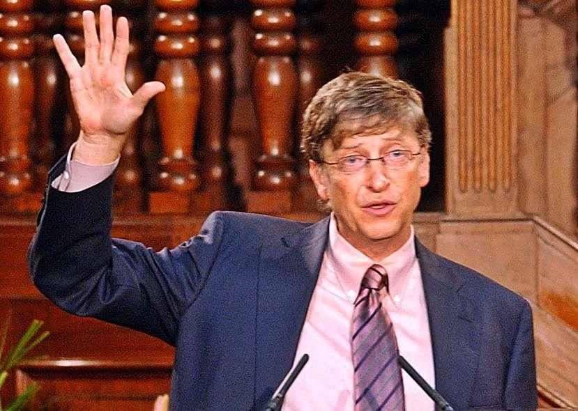 Bill Gates, durante su conferencia en Oviedo. | LNE