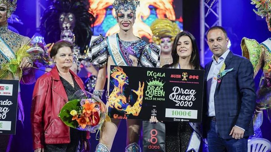 Shiky, drag del Carnaval de Moya con una crítica a los países que castigan la homosexulidad