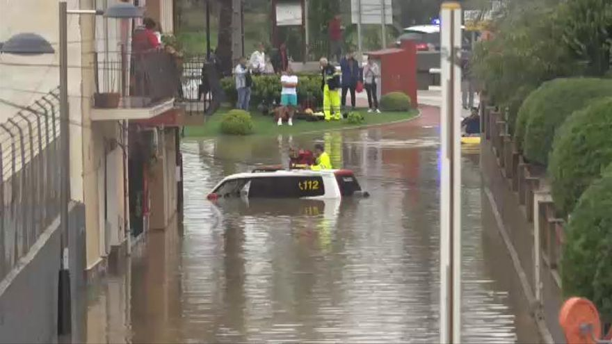 Gota fría: Máxima alerta en el sureste peninsular por tormentas y lluvias torrenciales