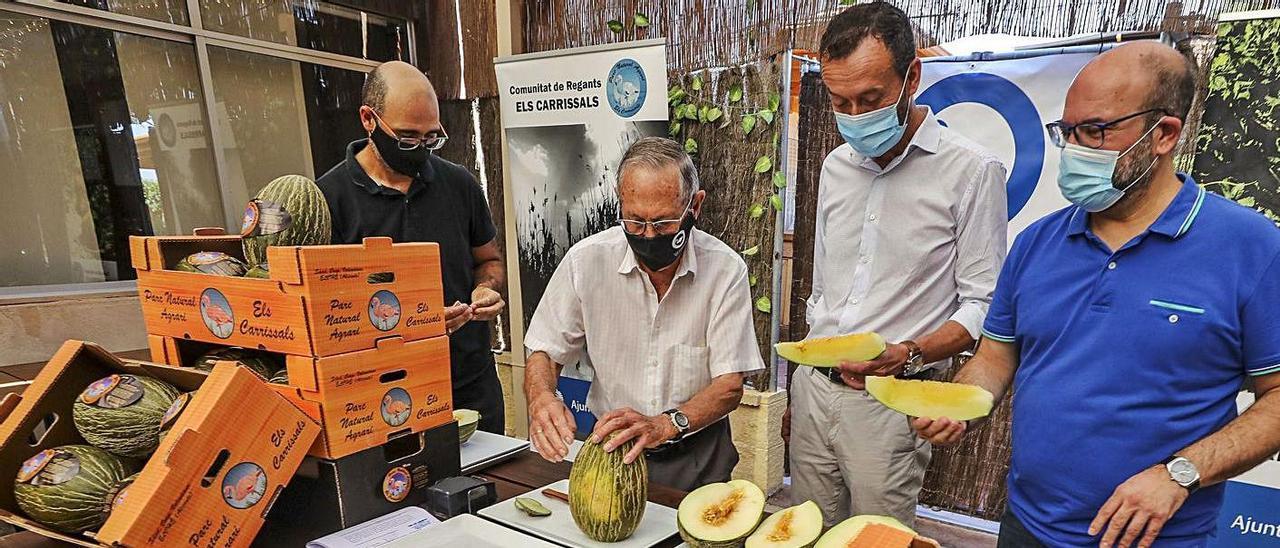Fernando Antón, Pascual Román, que abre un melón, Carlos González y Felip Sànchez