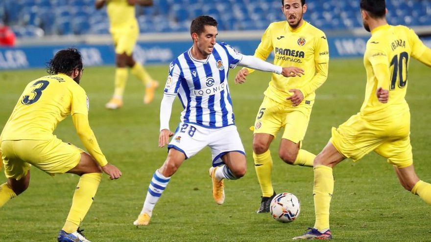 El Villarreal frena a la Real
