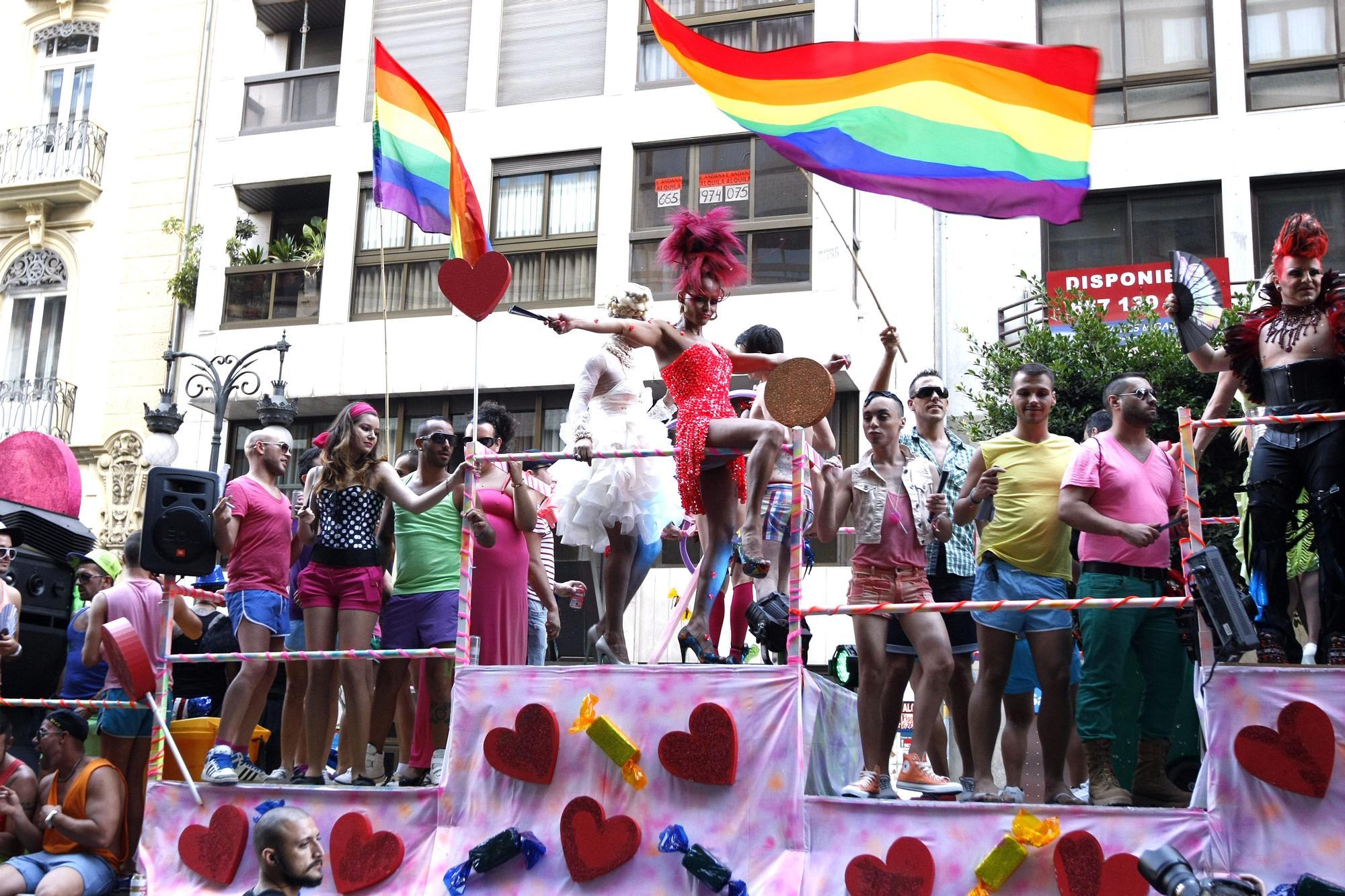 Manifestación y marcha del Orgullo en 2012
