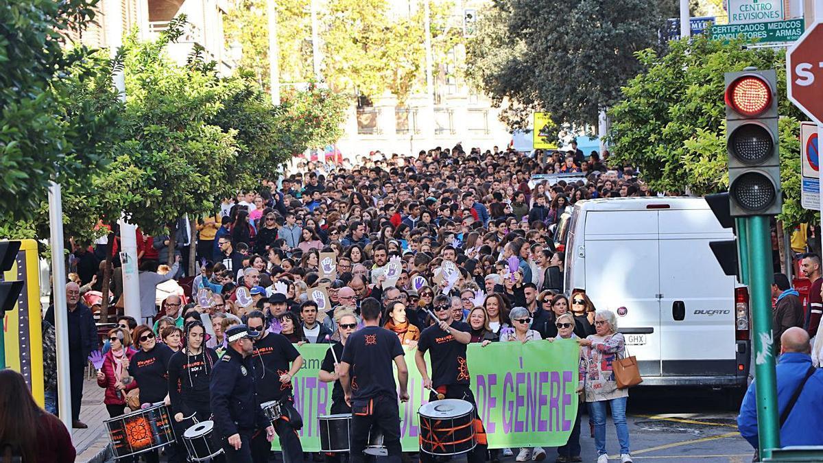 Marcha contra la violencia de género en Llíria el año pasado.