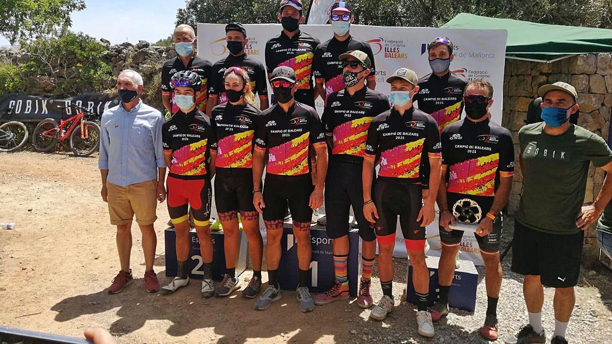 Podio final en Son Macià con los nuevos campeones de Balears.