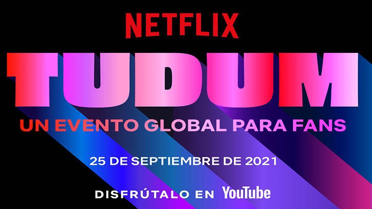 Cartel promocional de Tudum, el gran evento de Netflix.
