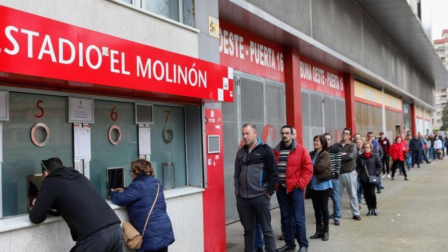 El Sporting inicia mañana la venta de 500 entradas para Ponferrada