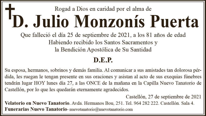 D. Julio Monzonís Puerta