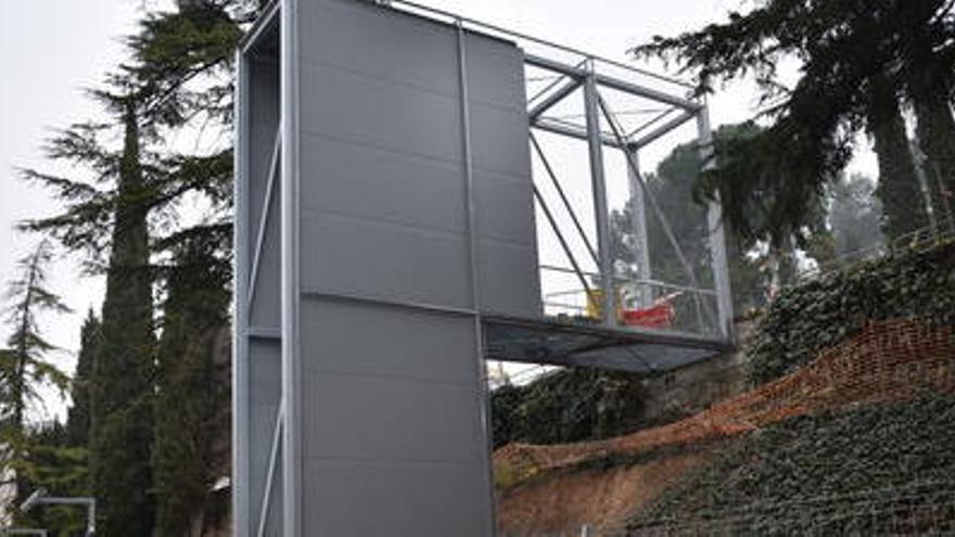 L'Ajuntament preveu posar en marxa l'ascensor del carrer Circumval·lació a la primavera