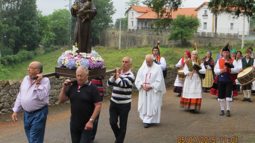 Lieres celebrará las fiestas de San Antonio, pero sin procesión ni subasta del ramo