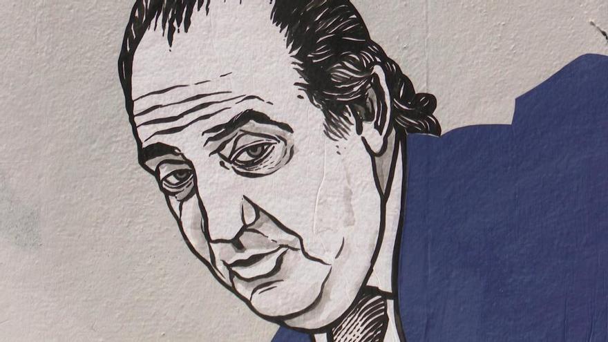 Así es el grafiti que inmortaliza la salida de España del rey Juan Carlos I
