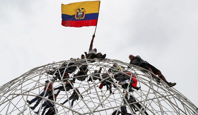 Protestas contra las medidas de austeridad del presidente Lenin Moreno en Quito