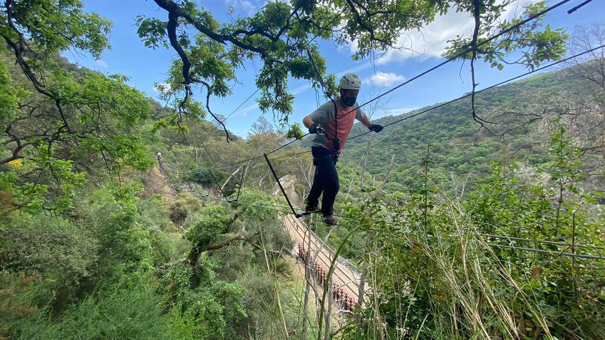 El sendero 'El Caimán' de Cortes de la Frontera estrena vía ferrata