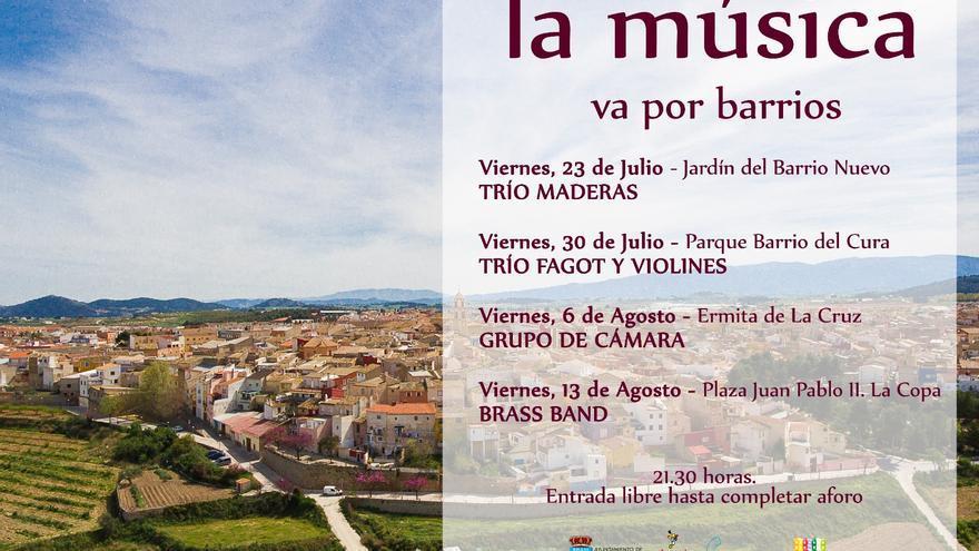 Este viernes arranca 'La música va por barrios' en Bullas