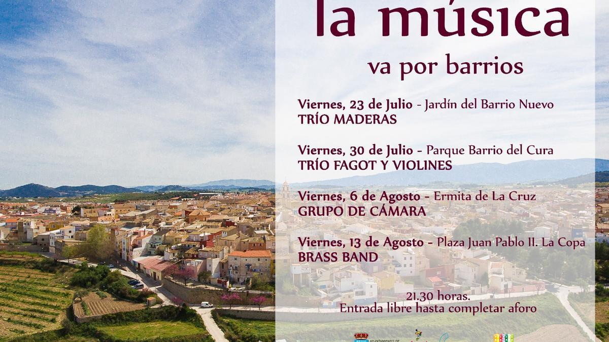 'La música por barrios' en Bullas
