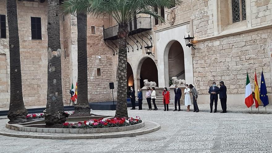 Empieza la cumbre entre España e Italia en el Palacio de la Amudaina