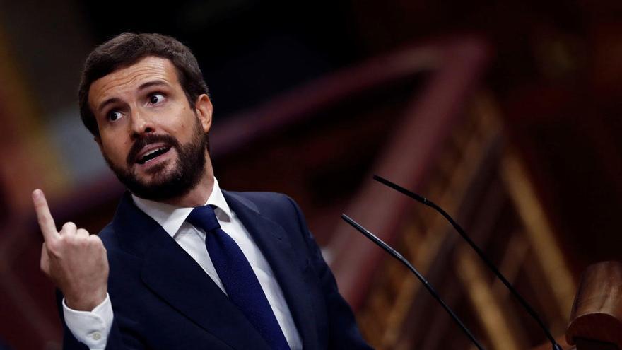 Pablo Casado se lanza contra Abascal y da un 'no' a su moción