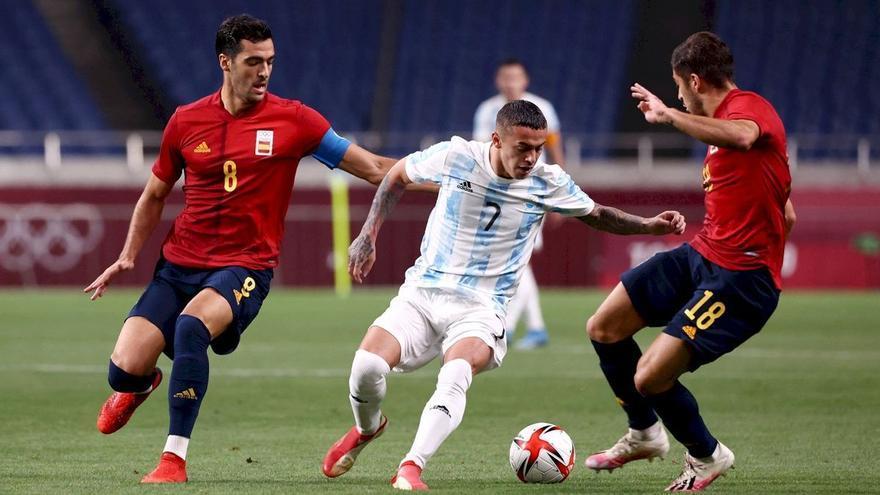 L'Espanya de Pedri accedeix als quarts dels Jocs després a l'empatar amb l'Argentina (1-1)