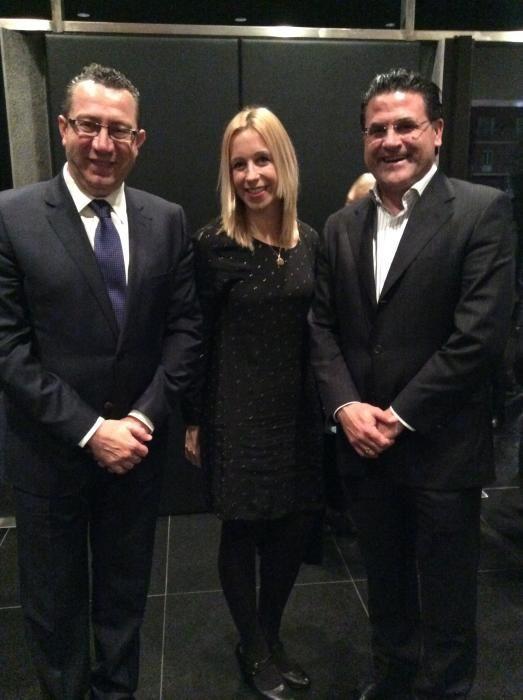 El alcalde de Benidorm, Toni Pérez con Ana Pellicer y José Ramón González de Zárate, concejales de Benidorm