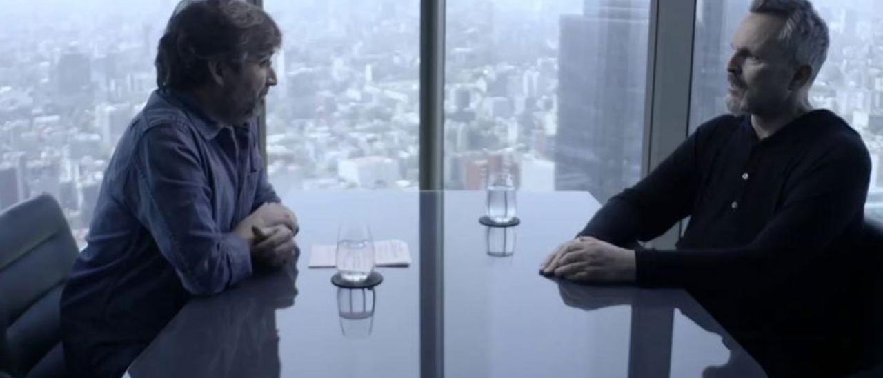 Miguel Bosé, durante la entrevista concedida a Jordi Évole.