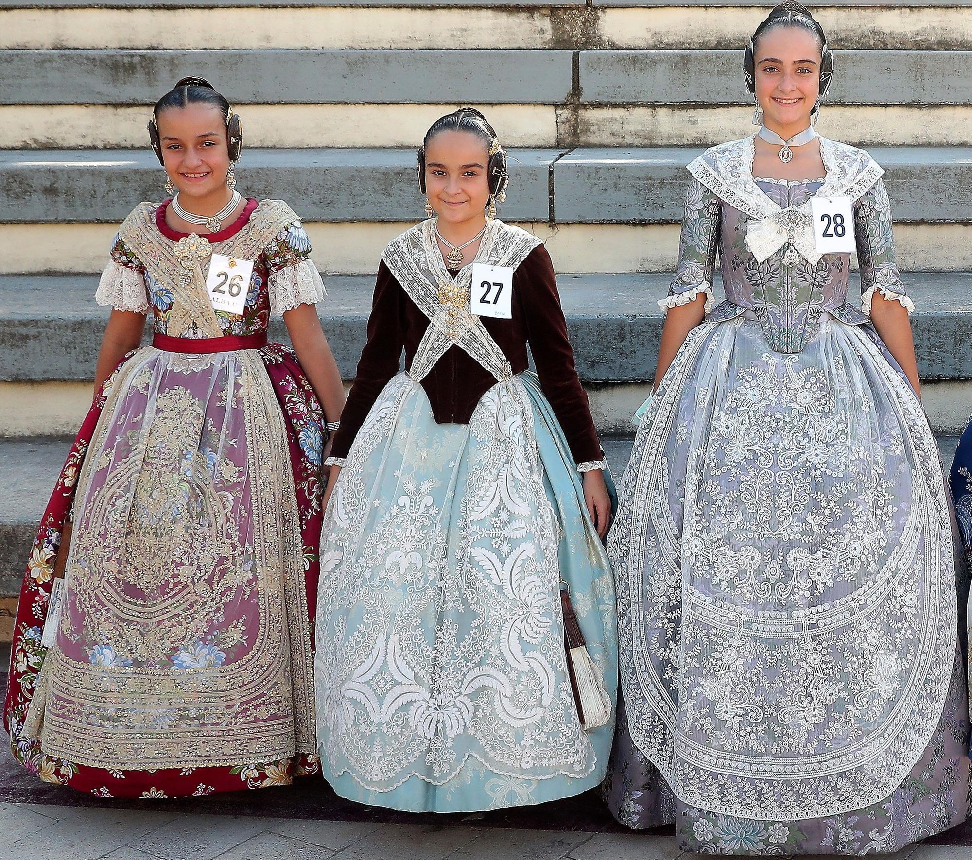 Las niñas que quieren ser fallera mayor infantil de València y corte 2022