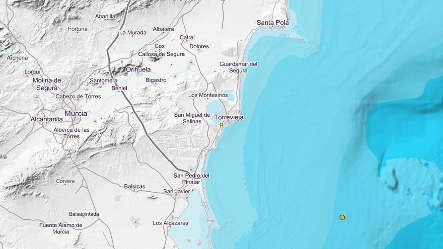 Torrevieja sufre un terremoto de 1,7 grados de magnitud