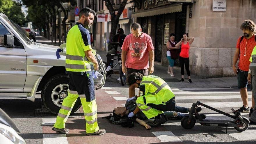 Polizei in Palma schlüsselt Unfälle mit Elektroroller-Beteiligung auf