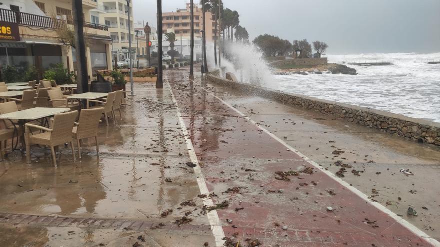 El tiempo en Mallorca: Rachas de 140 kilómetros por hora, temporal marítimo y desplome de temperaturas