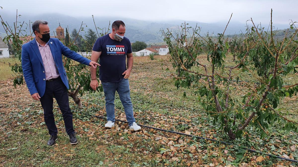 El presidente de la DPZ visita las localidades afectadas por las fuertes tormentas