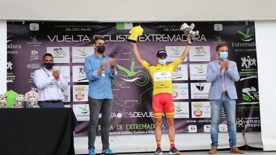 Prades rubrica el pleno del Vigo-Rías Baixas en la Vuelta Ciclista Extremadura