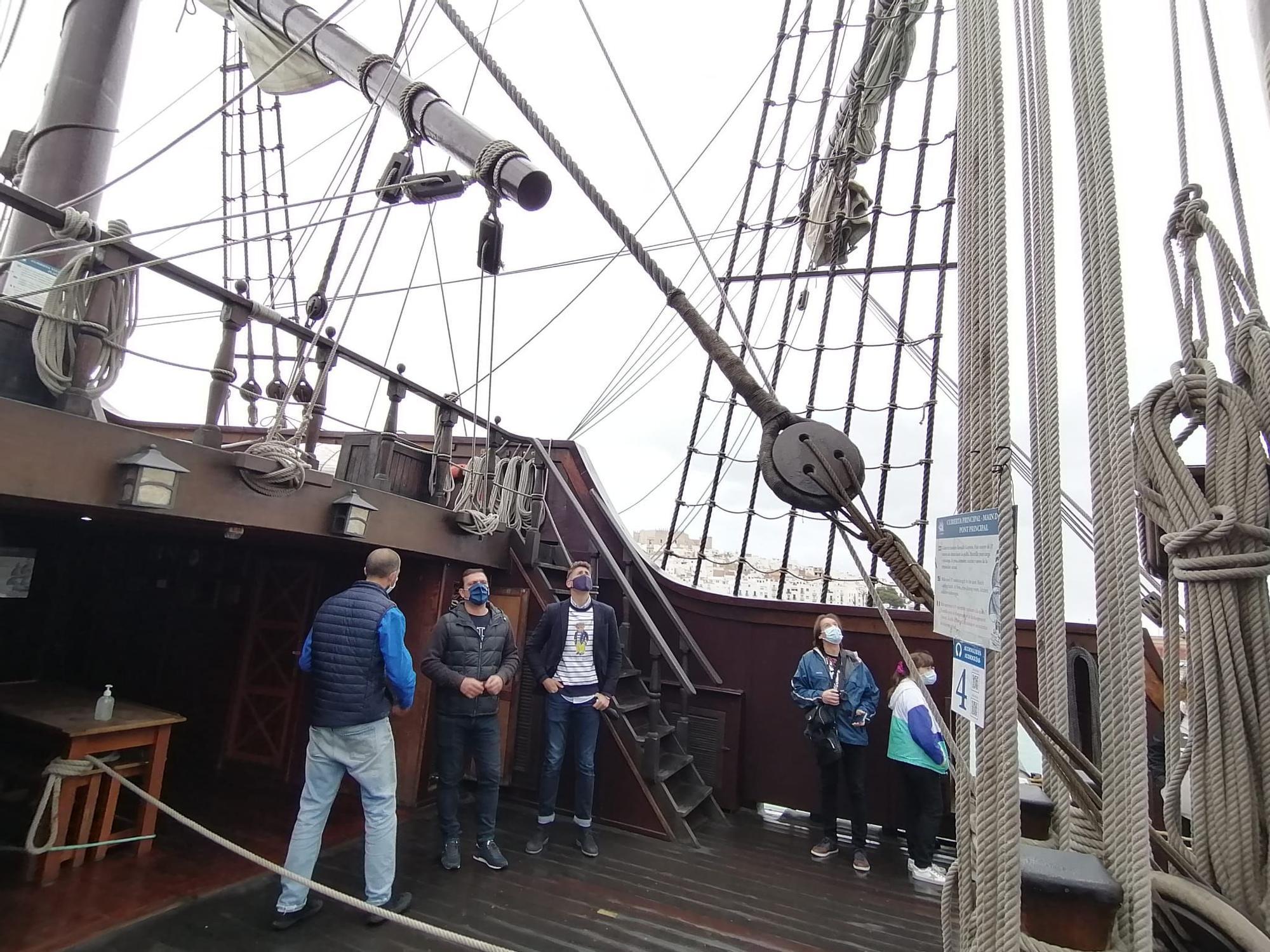 ¡Arriad velas! El 'Galeón Andalucía' ya puede visitarse en Peñíscola