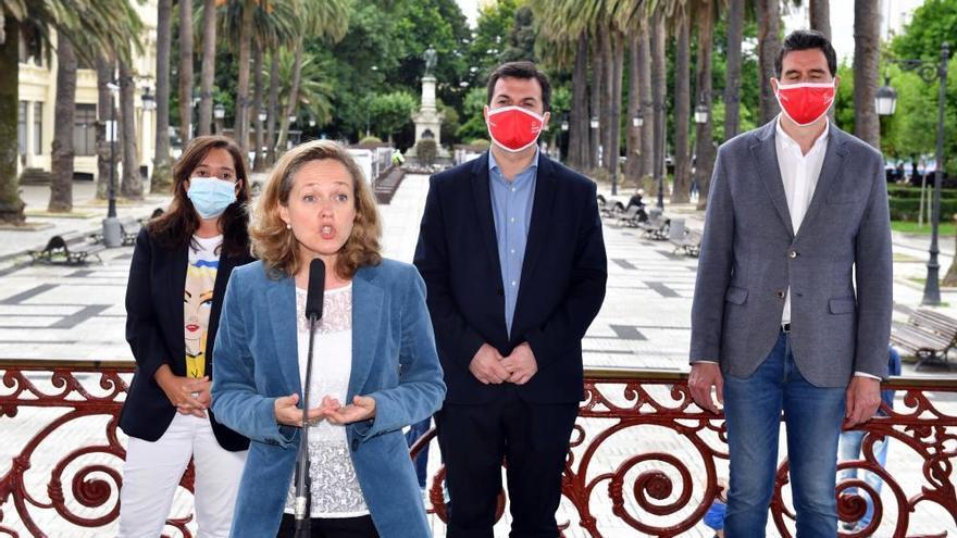 Mitin de Nadia Calviño y Gonzalo Caballero en A Coruña