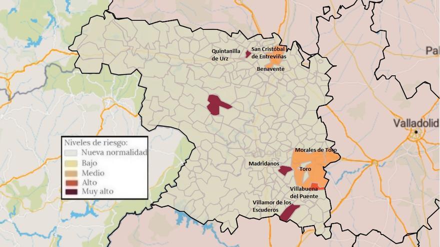 Mapa de coronavirus de Zamora, hoy, miércoles | San Cristóbal de Entreviñas, con casos