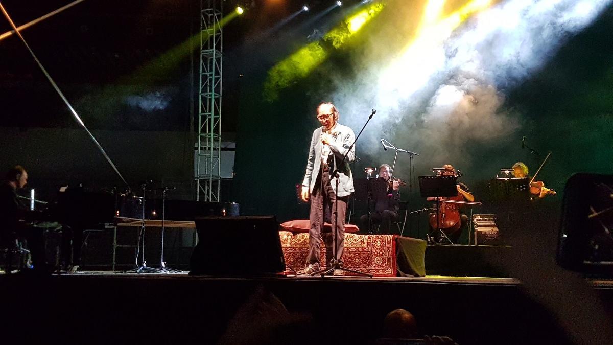 Franco Battiato, en el concierto en La Malagueta en julio de 2017.