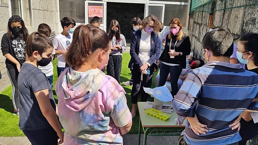 Científicos galegos ensinan ao alumnado ponteareán