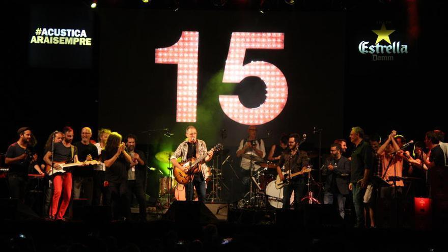 Figueres es converteix en un gran 'karaoke' per celebrar els quinze anys de l'Acústica