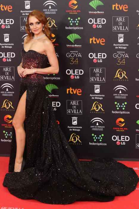 Alfombra roja de los Premios Goya 2020.