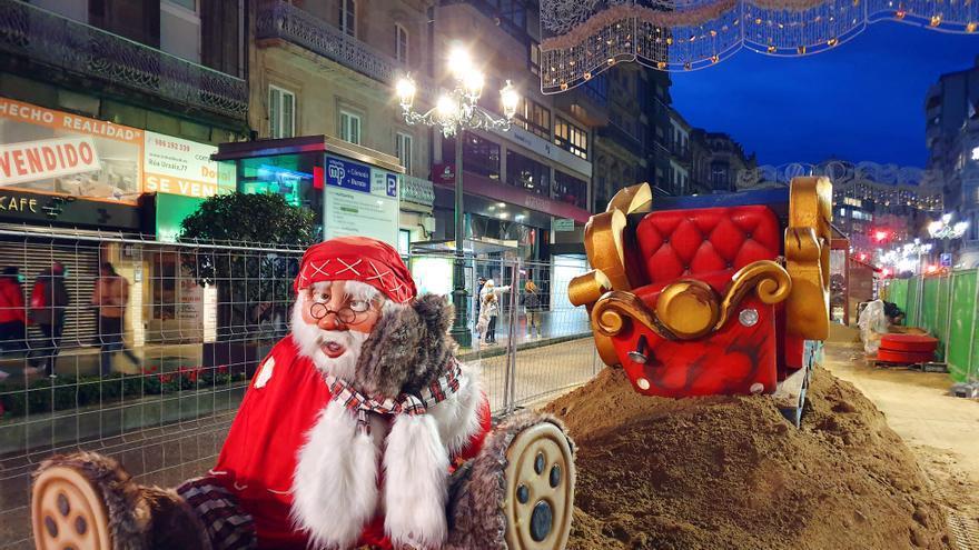 Las atracciones de Navidad quedan en el aire en varias zonas de Vigo