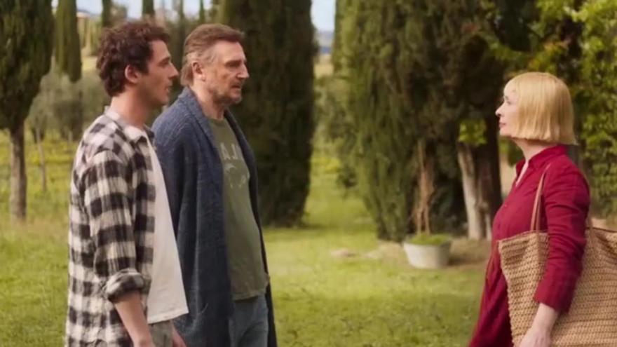 'Una villa en la Toscana': Liam Neeson y su hijo