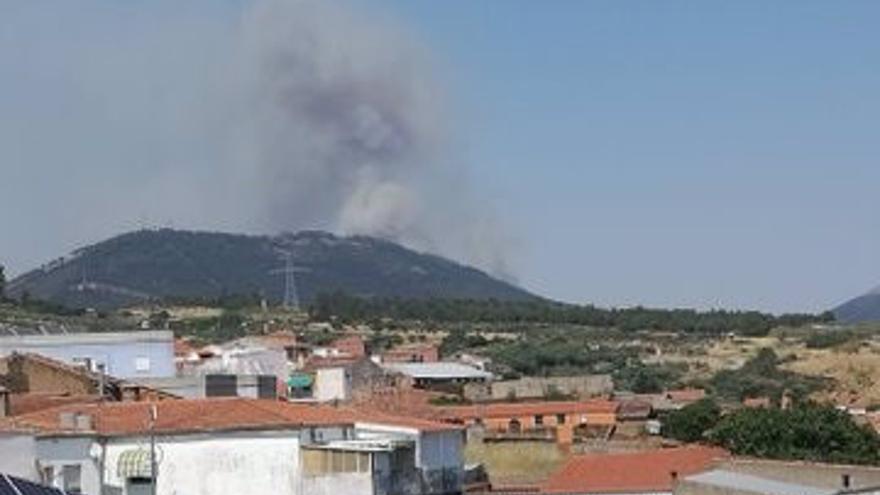 Estabilizado un incendio forestal en Casas de Millán