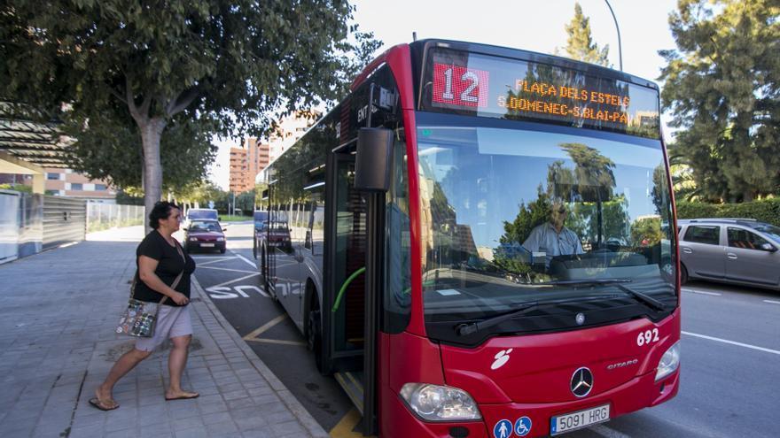 Los autobuses del transporte urbano de Alicante recuperan el aforo completo desde el jueves