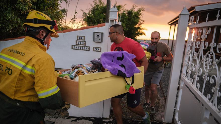 Desalojan una casa en Todoque