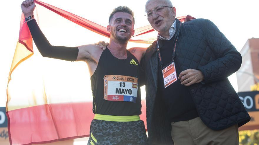 Carlos Mayo, primer español en la Media Maratón de Valencia