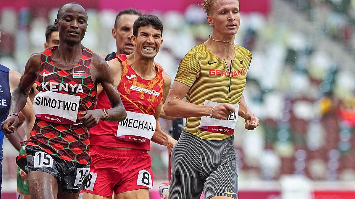 Adel Mechaal durant la cursa d'ahir a Tòquio