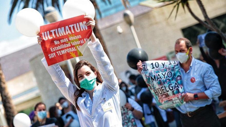 Los médicos temporales retoman la huelga tras cuatro meses sin acuerdos