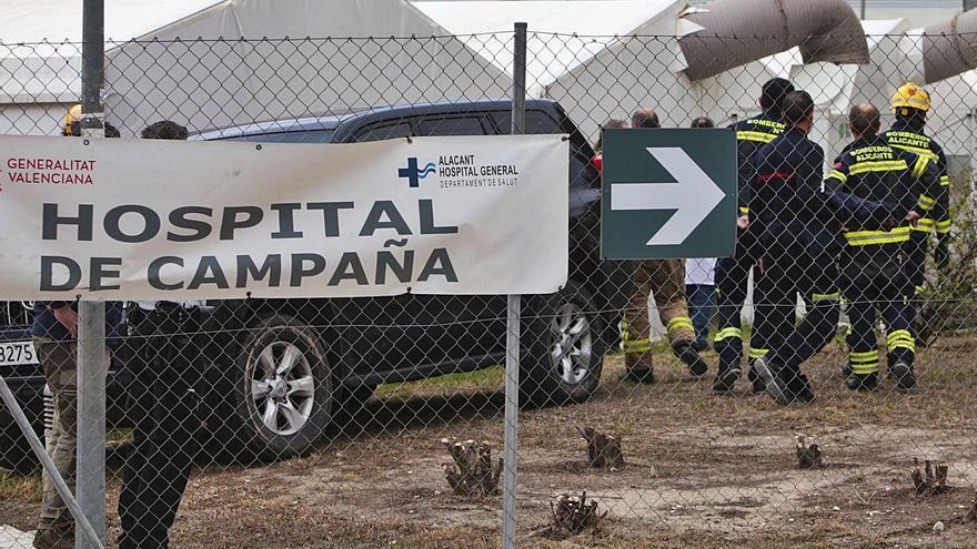 Los Bomberos descartan que haya deficiencias en el hospital de campaña