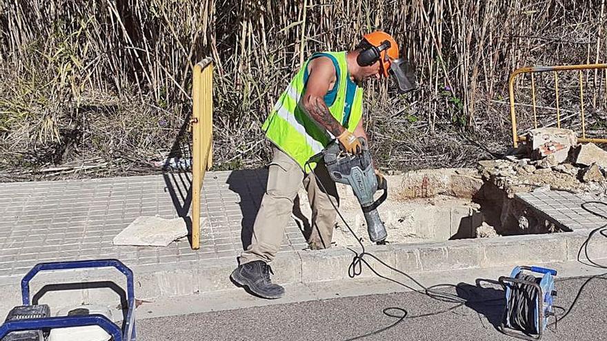 Xàtiva mejora el acceso a las arquetas de la acequia Murta