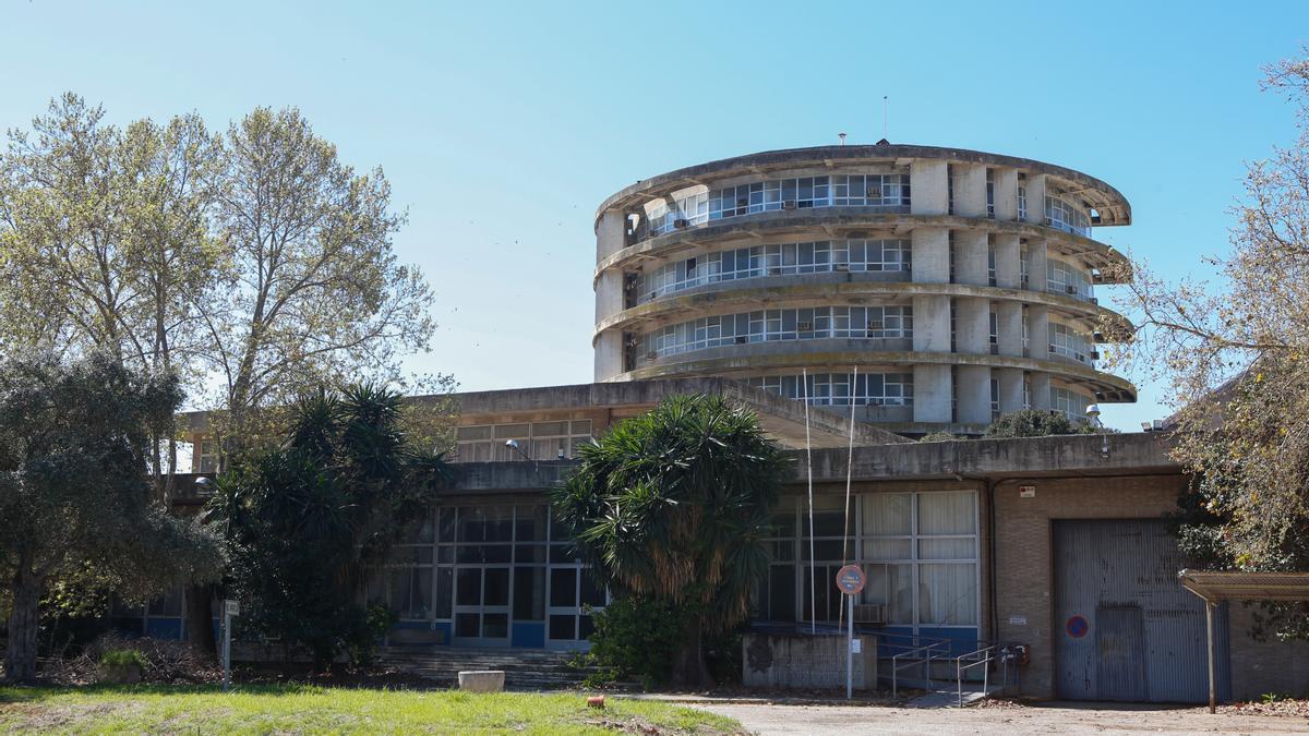 Estado en que se encuentra la antigua torre de Agrónomos.